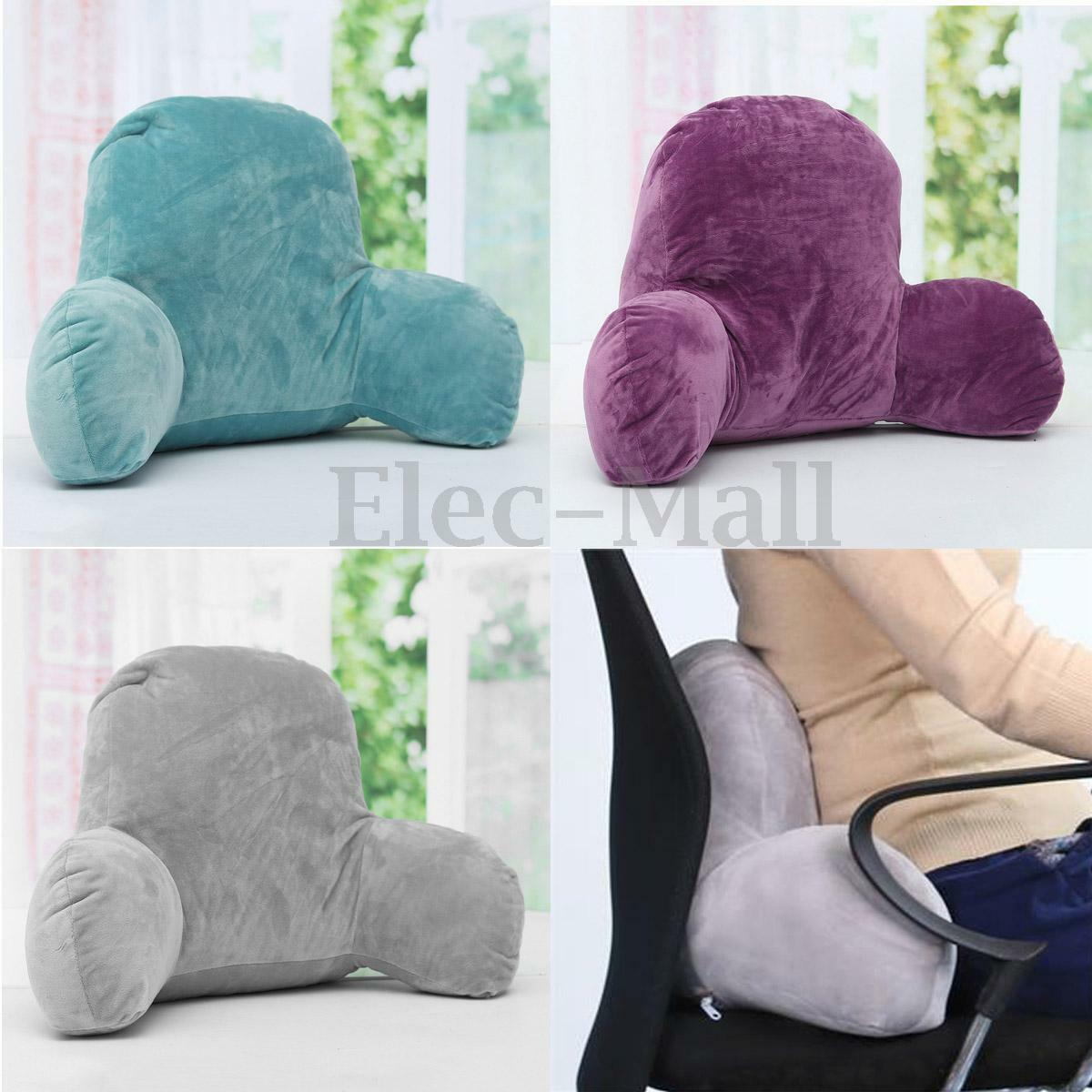 bed rest pillow with arms. microsuede bedrest pillow grey best bed