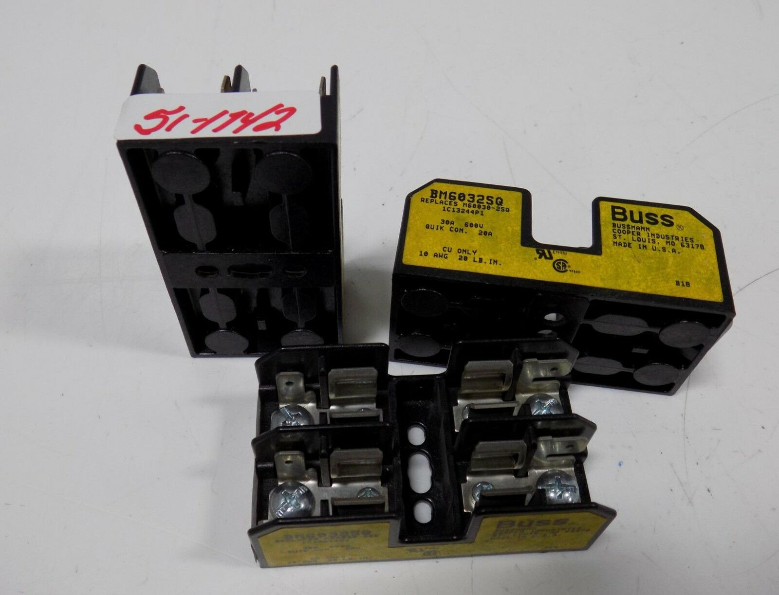 Bussmann 30a 600v Fuse Block Lot Of 3 Bm6032sq 2195 Picclick Box 1 1only 5 Available