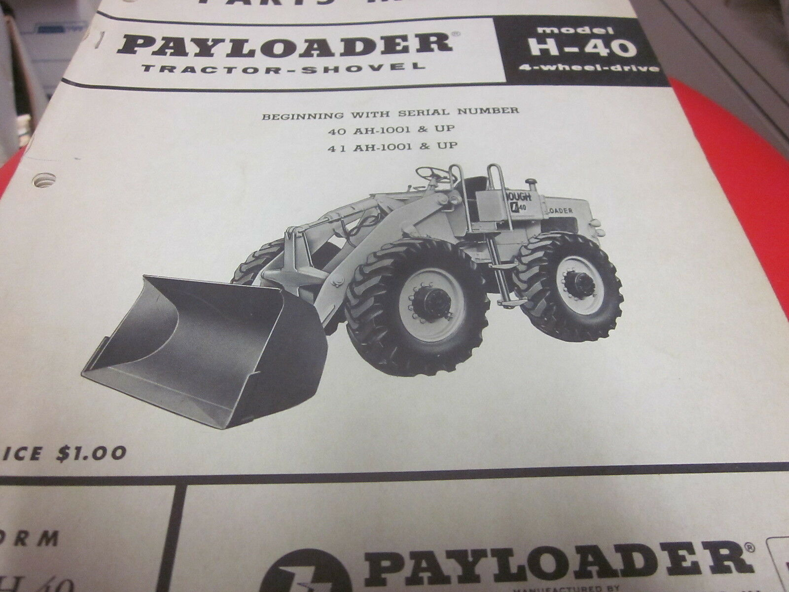 International Hough H-40 Pay Loader Tractor Shovel Parts Manual 1 of 2Only  1 available International Hough H-40 Pay Loader Tractor Shovel Parts Manual