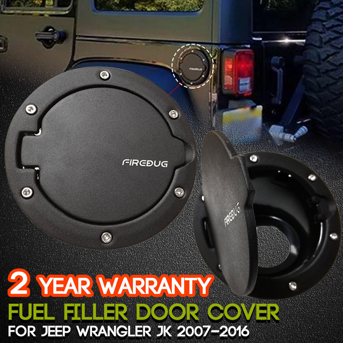 Stainless Steel Jeep Wrangler Fuel Tank Cover Gas Cap Jk Yj Filter 1 Of 6only 0 Available