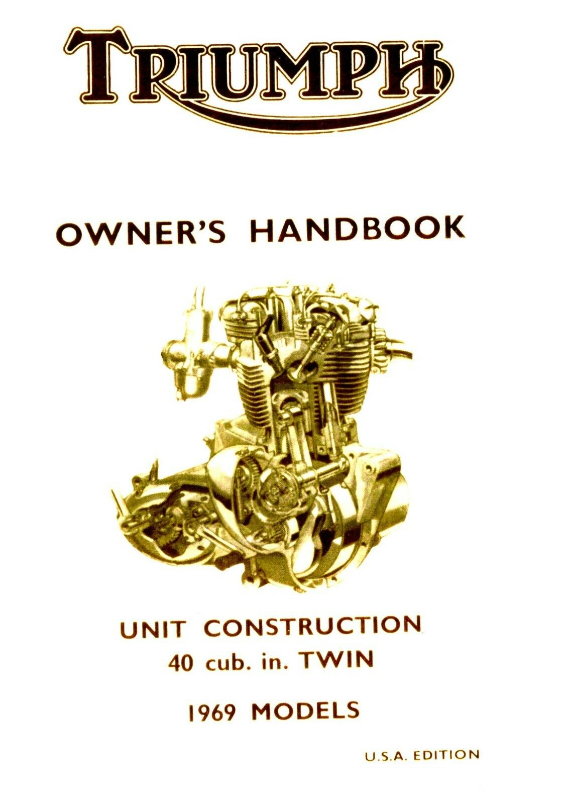 99 0876 Triumph Owners Handbook Bonneville Tiger Trophy 650 T120 Tr6 1970 Wiring Diagram 1 Of 4only 5 Available