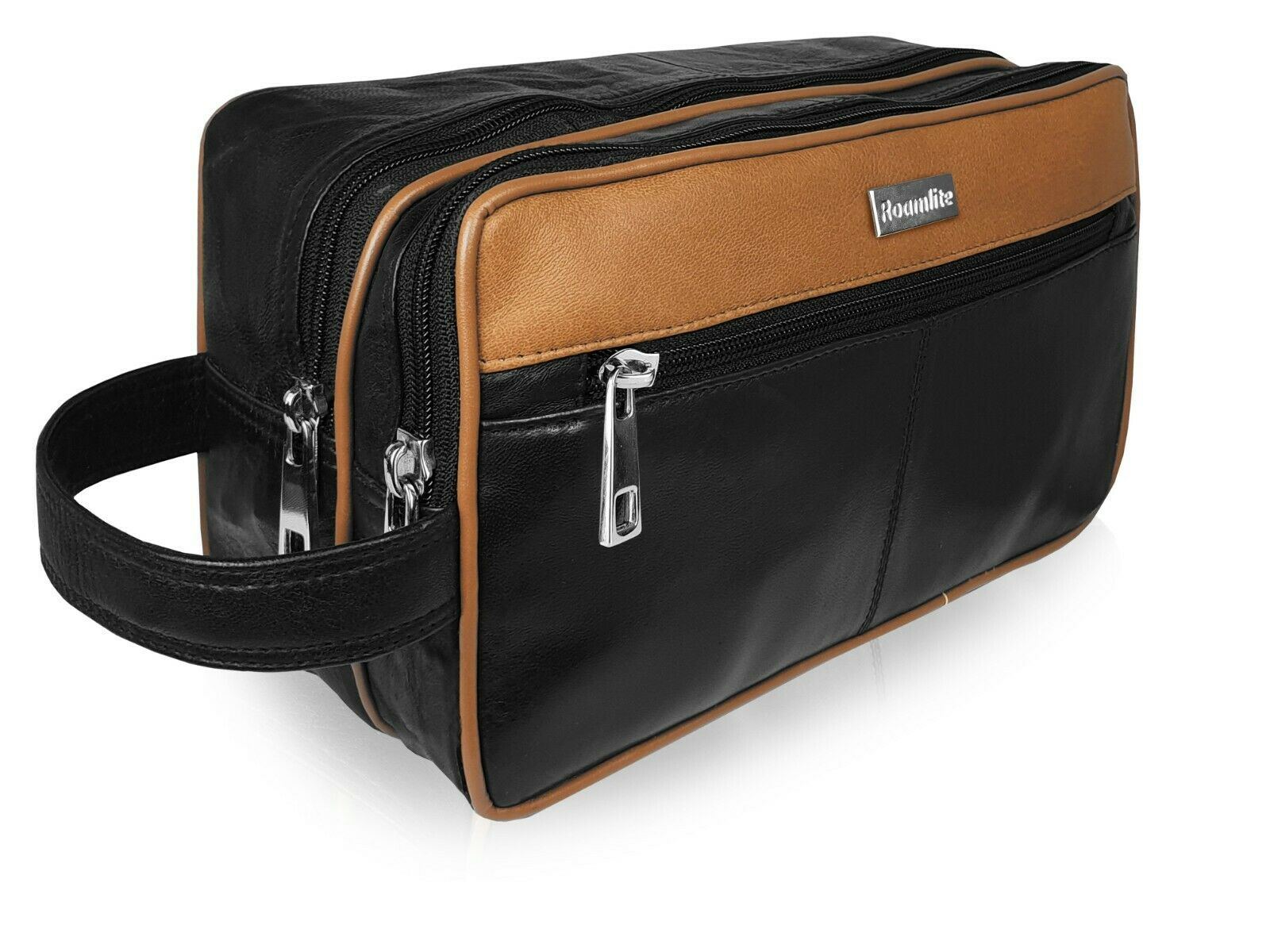 Leather Toiletry Wash Bag Toiletries Holiday Travel