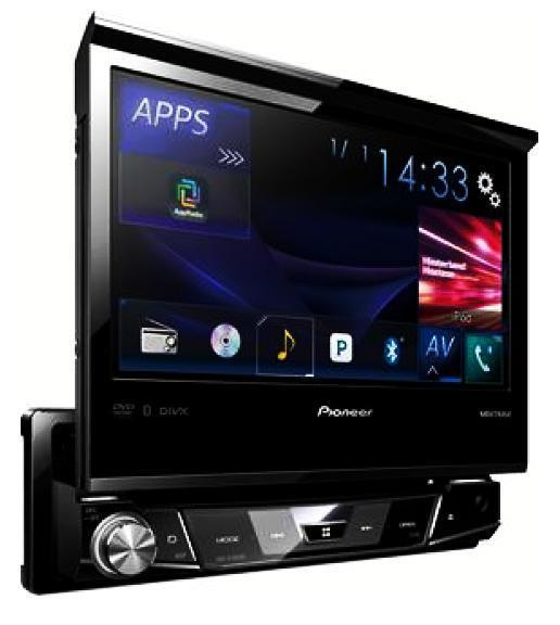 pioneer avh x7800bt 7 single din single din bluetooth dvd. Black Bedroom Furniture Sets. Home Design Ideas