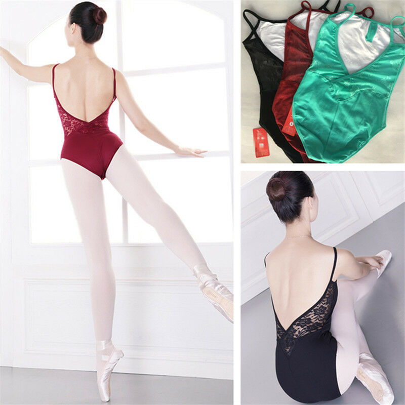 NEW Quality Girls Women  Sleeveless Black Maroon Dance Leotard Camisole 3Colour