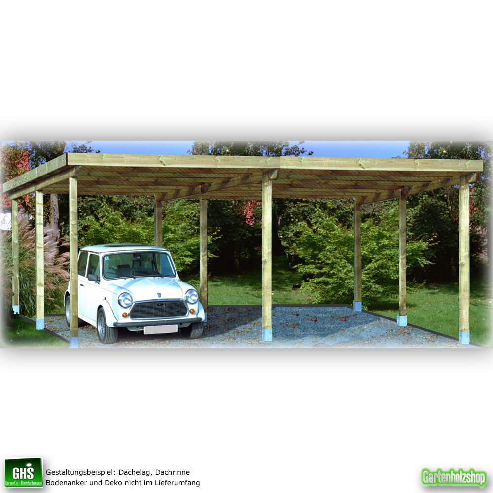 doppelcarport 6x6 mtr holz konstruktion f r verschiedene dachbel ge geeignet eur 495 00. Black Bedroom Furniture Sets. Home Design Ideas