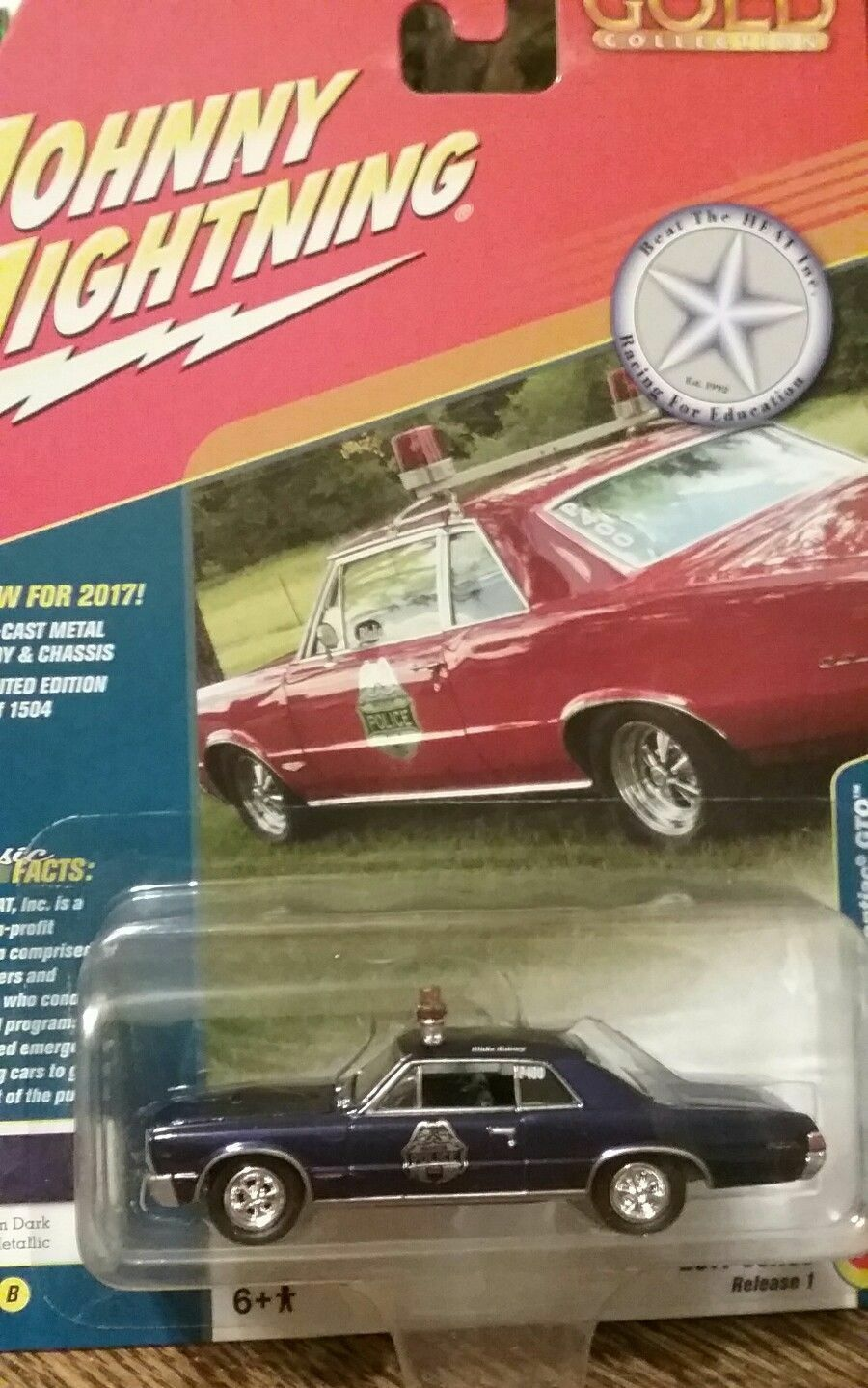 1965 Pontiac Gto Rainey Dark Blue Johnny Lightning Classic Gold 1973 Project Car 1 Of 2only Available