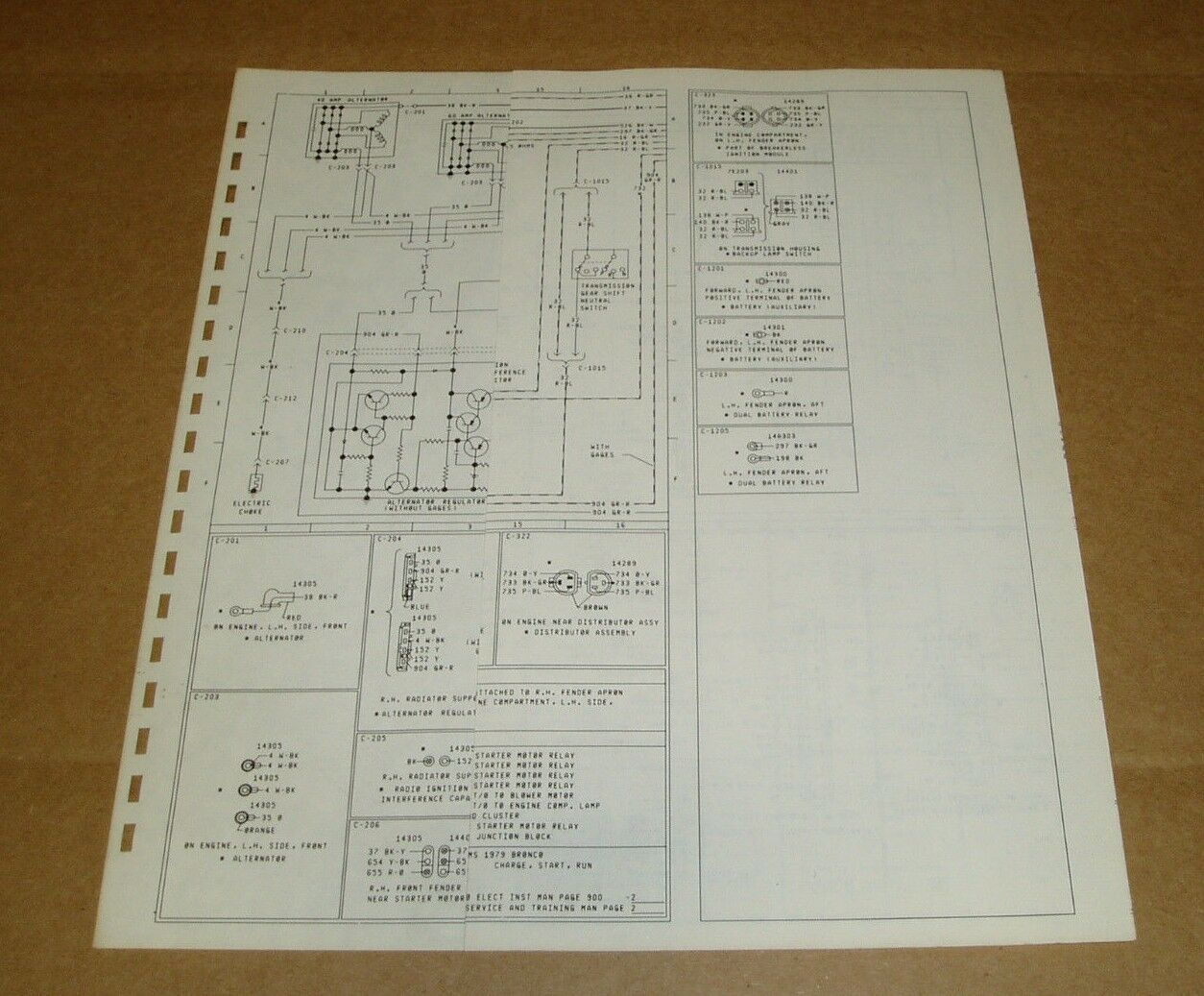 1978 Ford C600 C700 C800 C900 7000 Wiring Diagram Schematic Sheet Service Manual 1 Of 2only Available