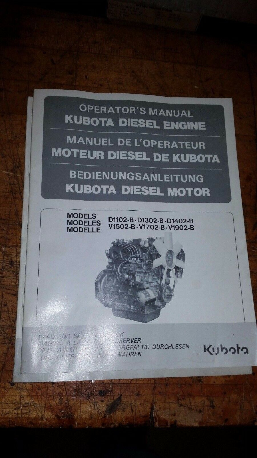 1 Kubota Diesel Engine Operators Manual D-1102-B D1302-B D1402- 1 of 1Only  2 available See More