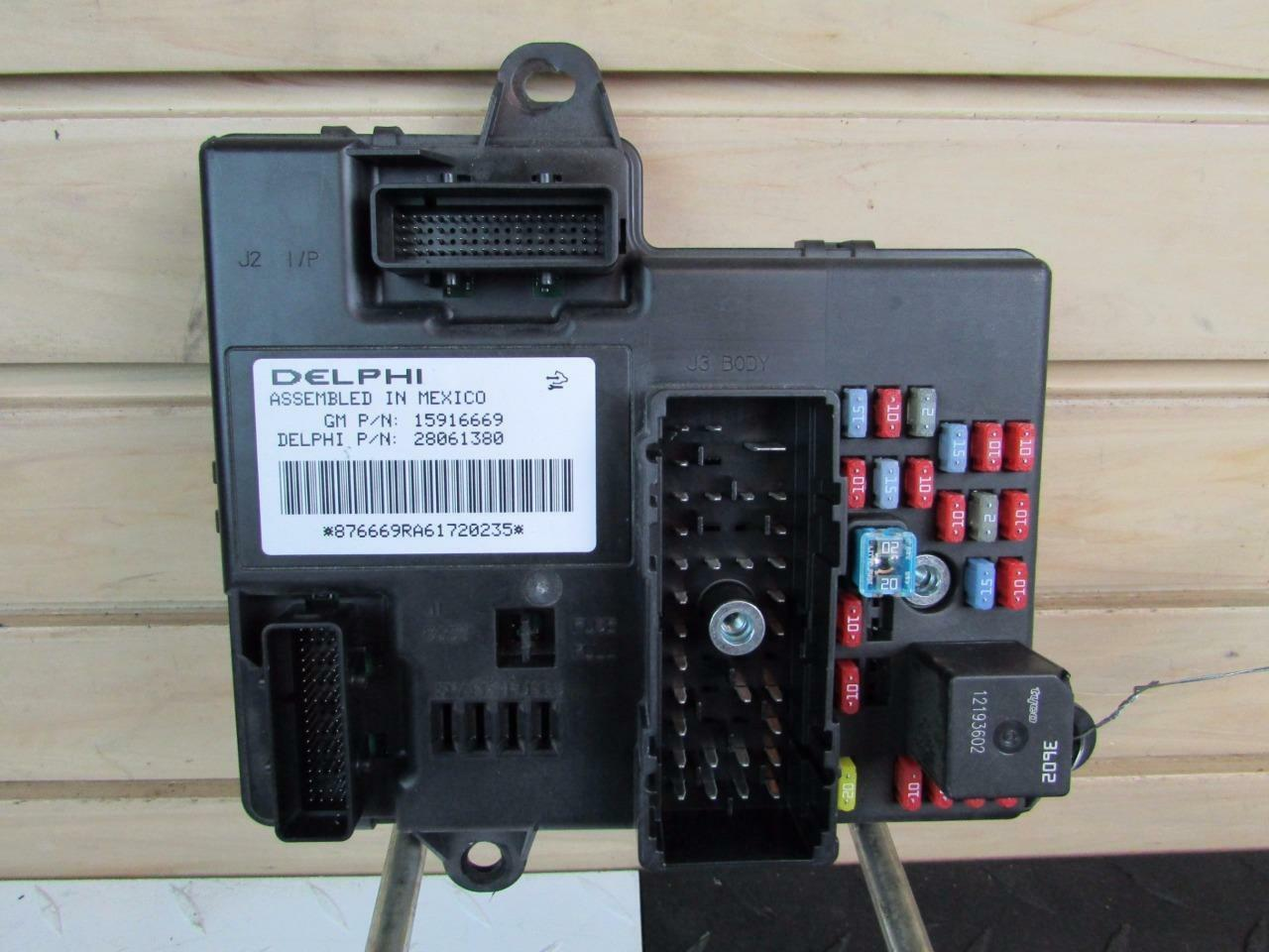 2007 C6 Corvette Body Control Module Bcm W Fuses 15916669 Cadillac Fuse Box Harness 1 Of 7only 3 Available