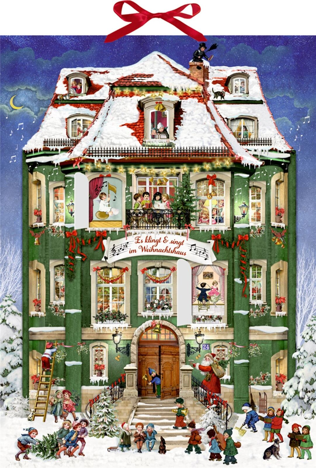 Deluxe traditional christmas carol musical card advent for Couch adventskalender