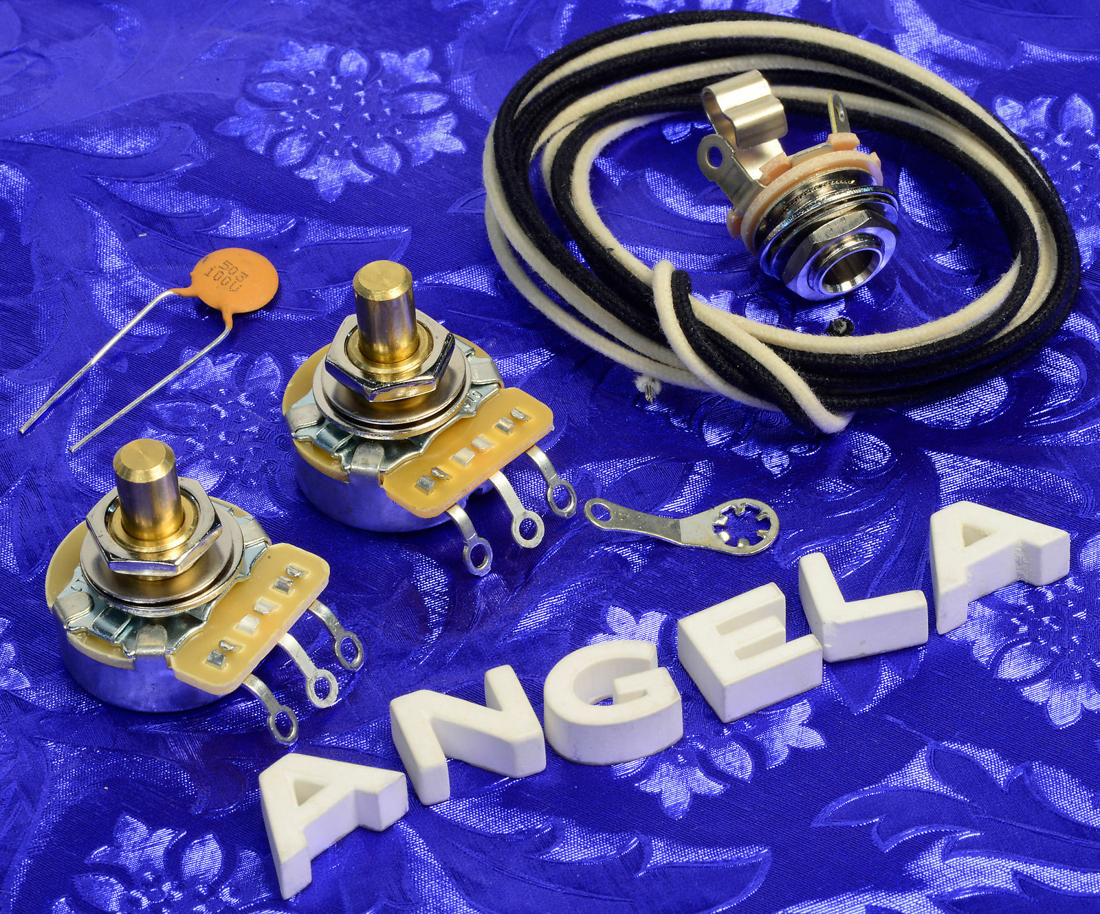 Angela Instruments Basic Wiring Kit For Fender Precision Bass With P Cts 450g Pots 1 Of 1free Shipping