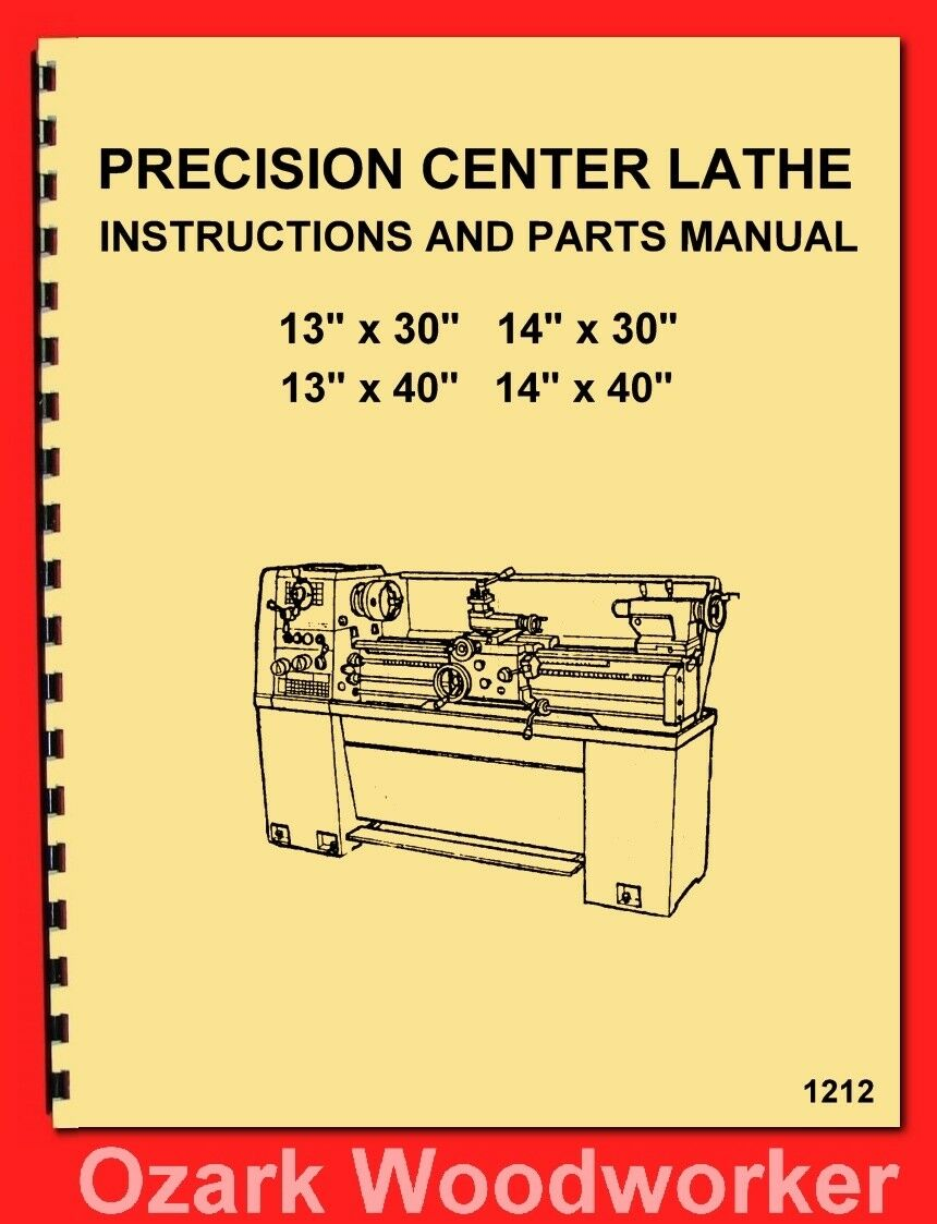 Enco,Warco,JET,Asian 1330 1340 1430 1440 Metal Lathe Operator Part Manual 1  of 3FREE Shipping See More