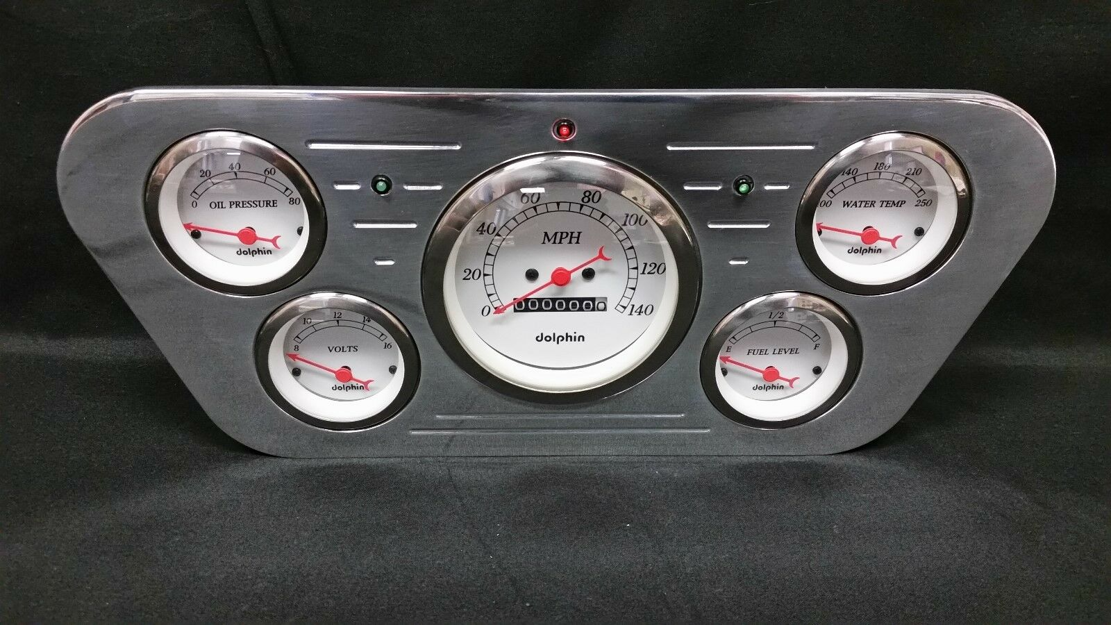 1953 1954 1955 Ford Truck 5 Gauge Gauge Cluster White 1 of 4 1953 1954 1955  Ford Truck 5 Gauge ...