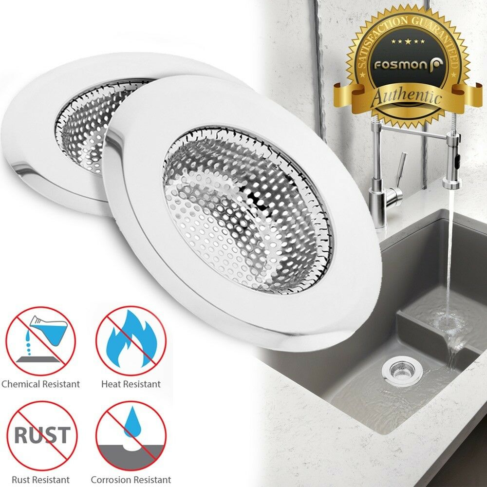 2x Stainless Steel Kitchen Sink Drain Strainer Mesh Basket Stopper Cover 4 5inch 1 Of 9free
