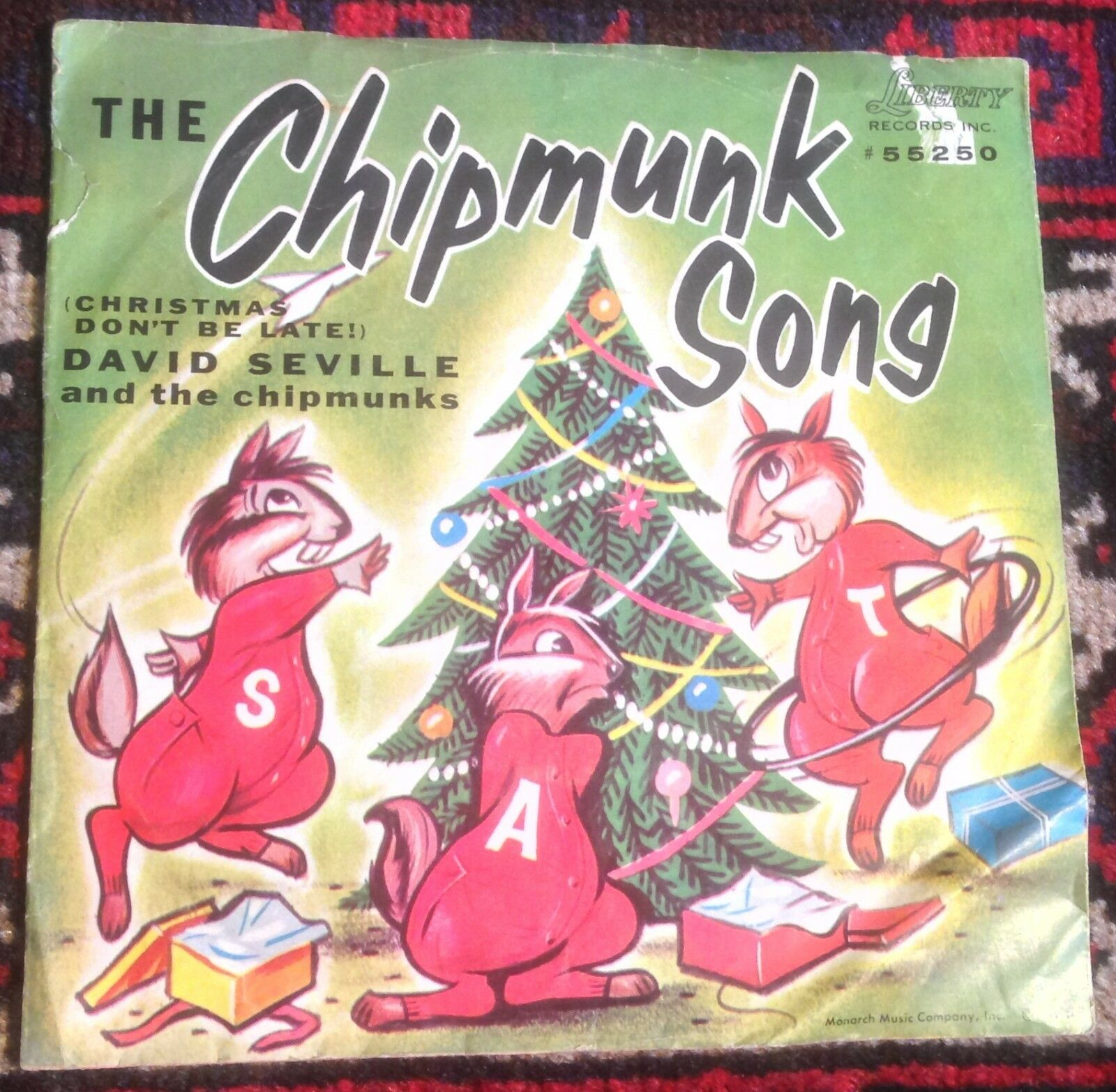 DAVID SEVILLE AND THE CHIPMUNKS the chipmunk song*alvin\'s harmonica ...