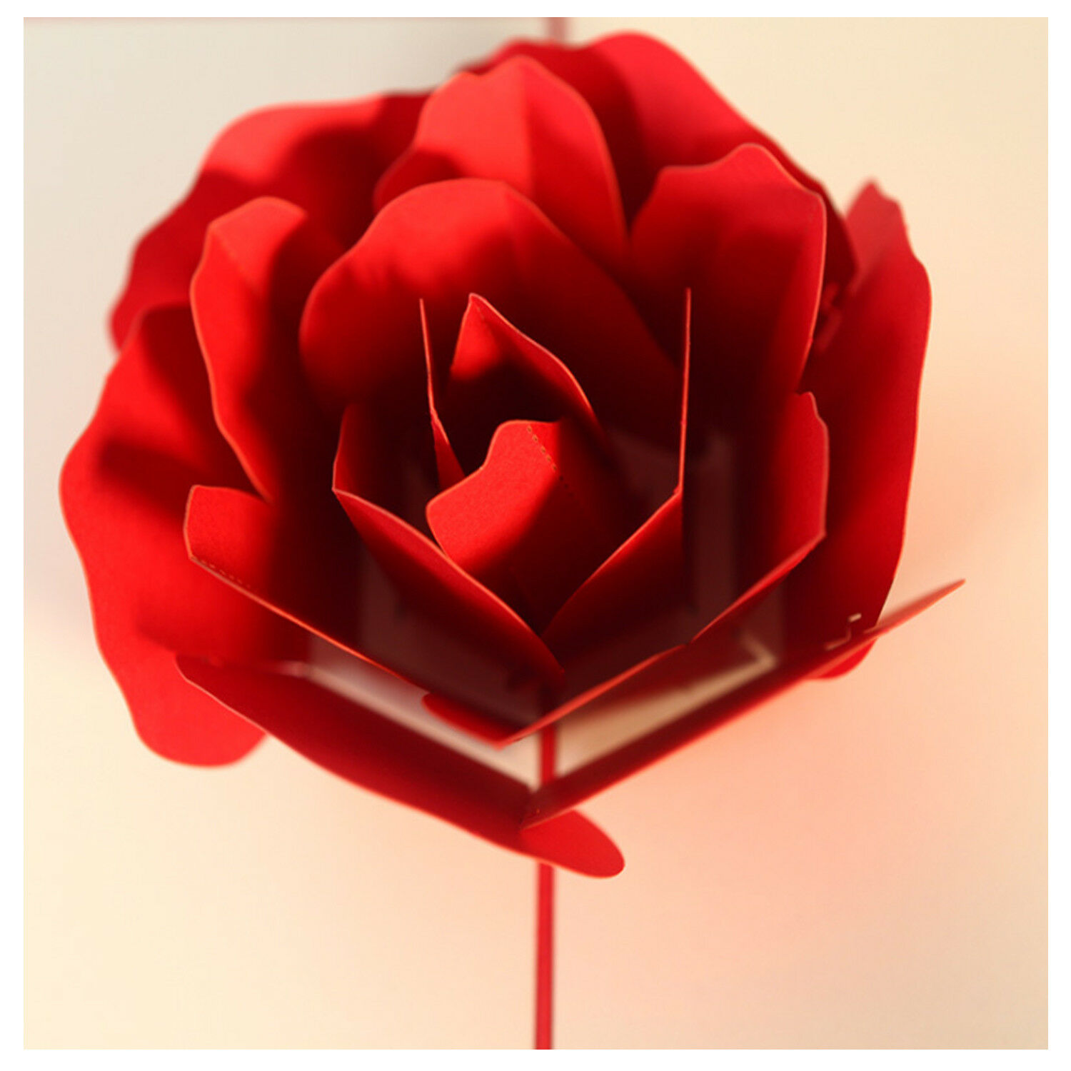 Handmade 3d Pop Up Rose Flower Birthday Cards Creative Greeting
