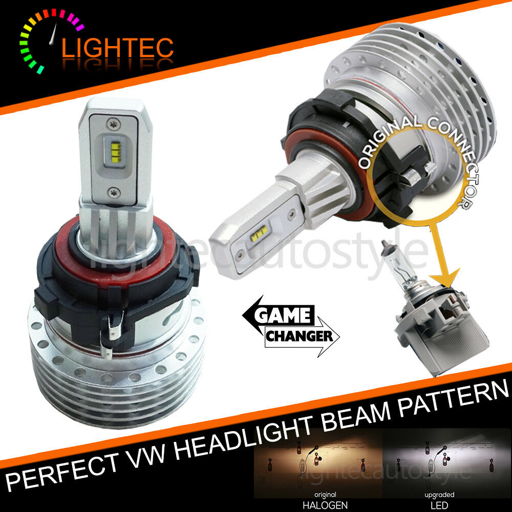 vw golf mk6 mk7 fanless h7 led headlight bulbs kit canbus. Black Bedroom Furniture Sets. Home Design Ideas