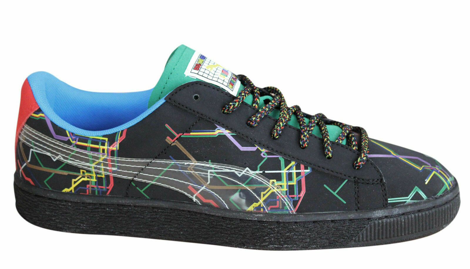 17cb6bffb3a Puma Basket x Dee   Ricky Mens Trainers Lace Up Shoes Black 361498 01 P2 1  of 2 See More