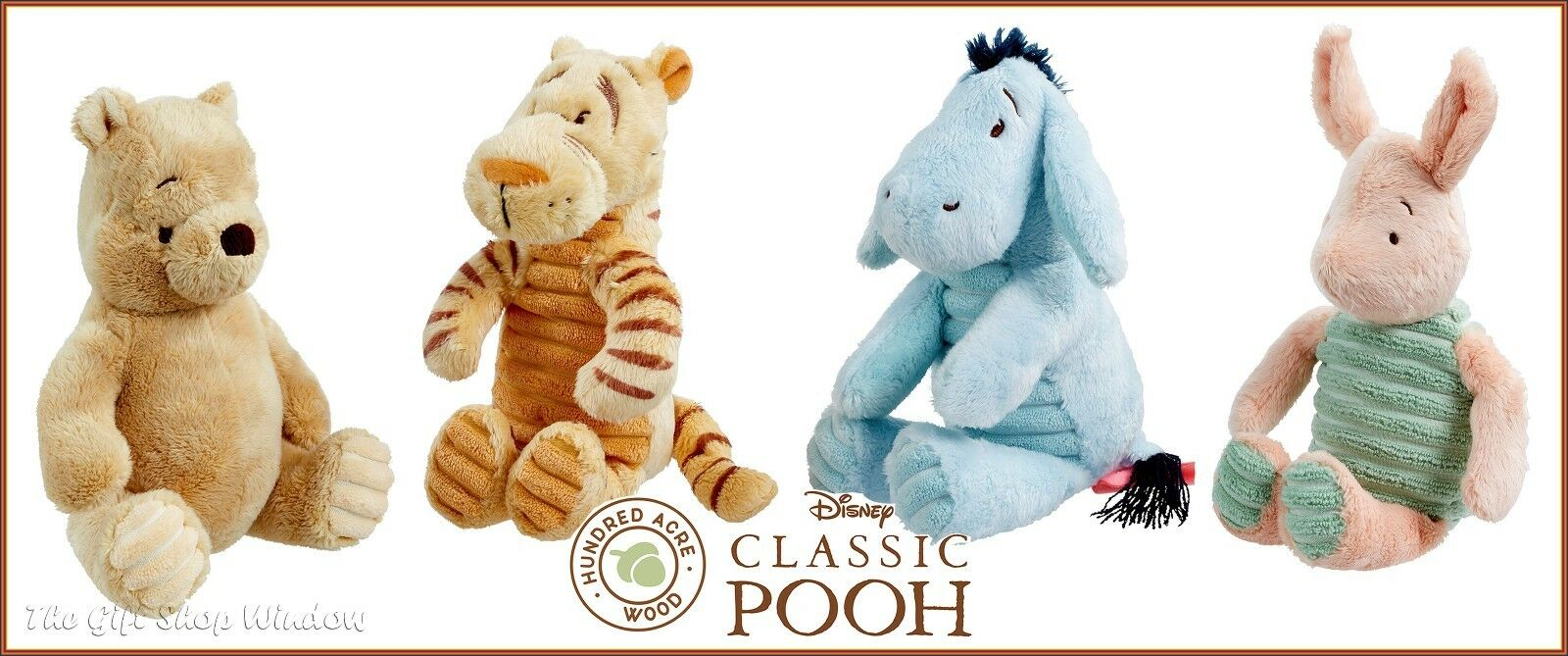 classic winnie the pooh tigger piglet or eeyore plush toy
