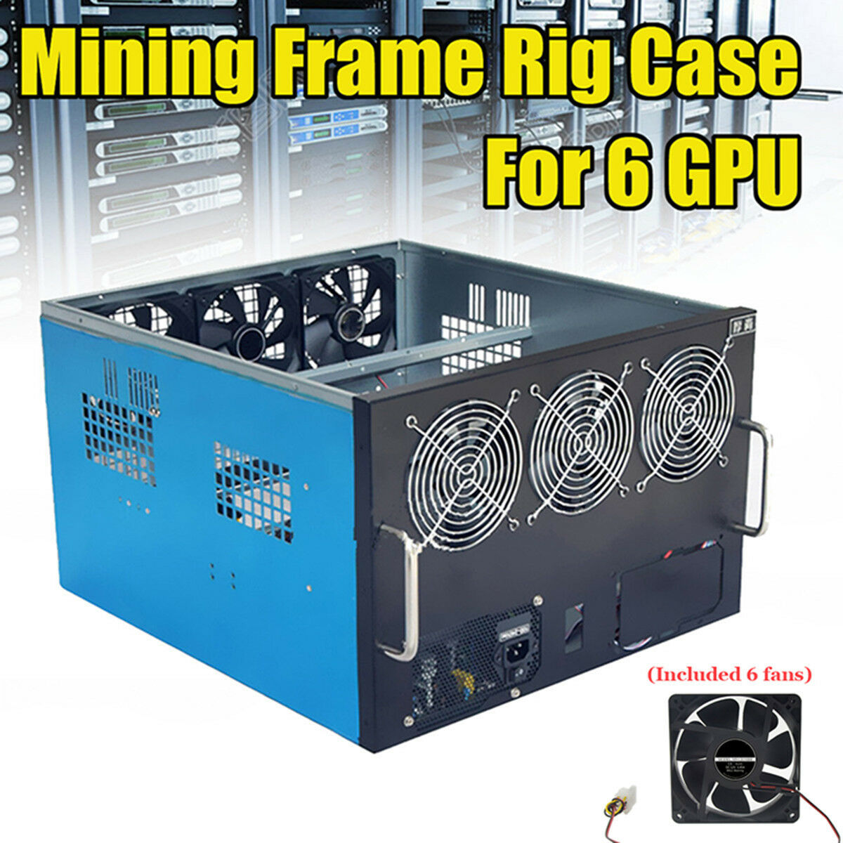 6 GPU MINING Frame Rig Case For ETH Mining Crypto Currency Rigs