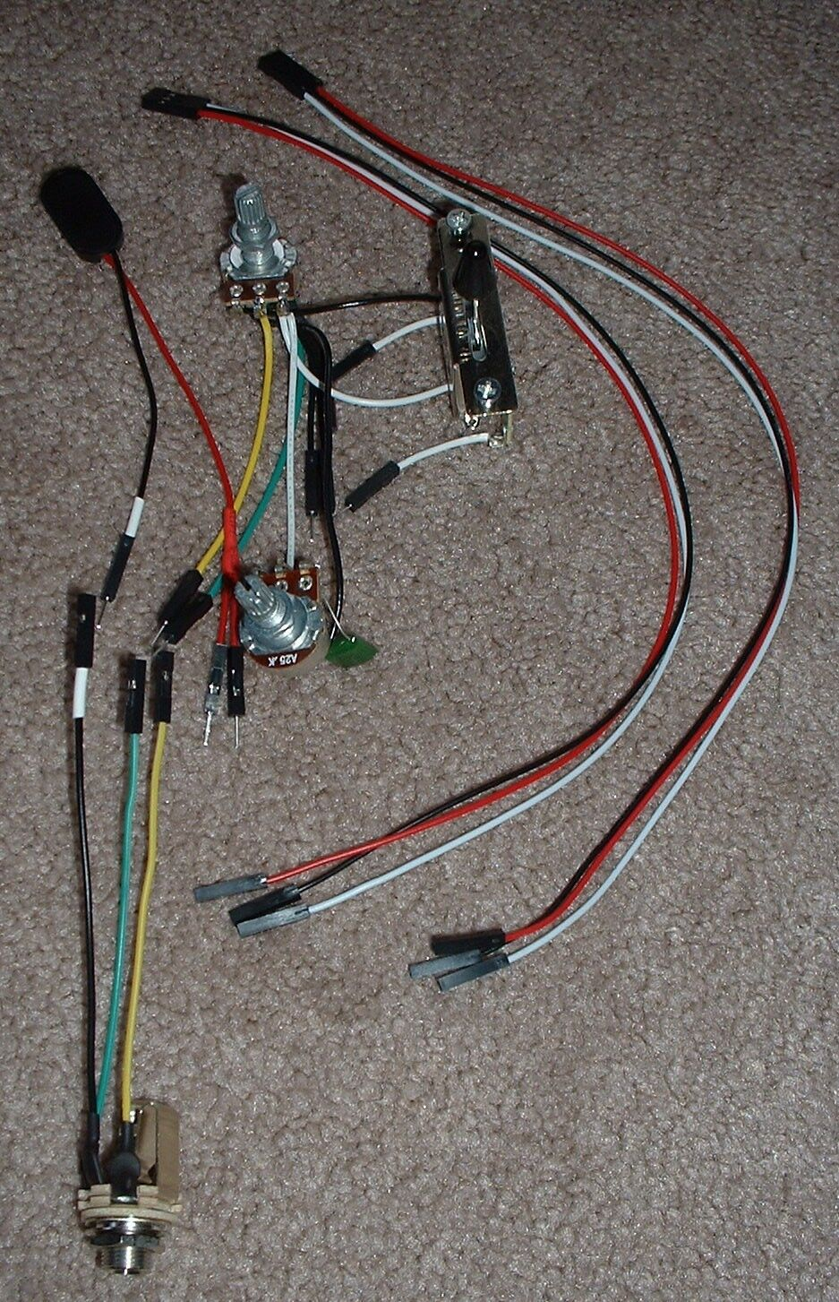 Emg Solderless Ez Install Wiring Kit 2 Active Pickups 1v 1t 3 Way Toggle Switch 1 Of See More