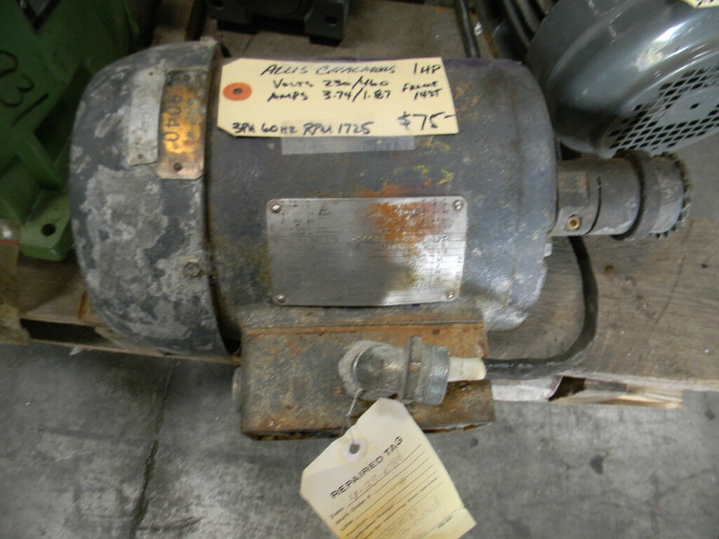 Allis chalmers 1 hp ac motor picclick for Allis chalmers electric motor