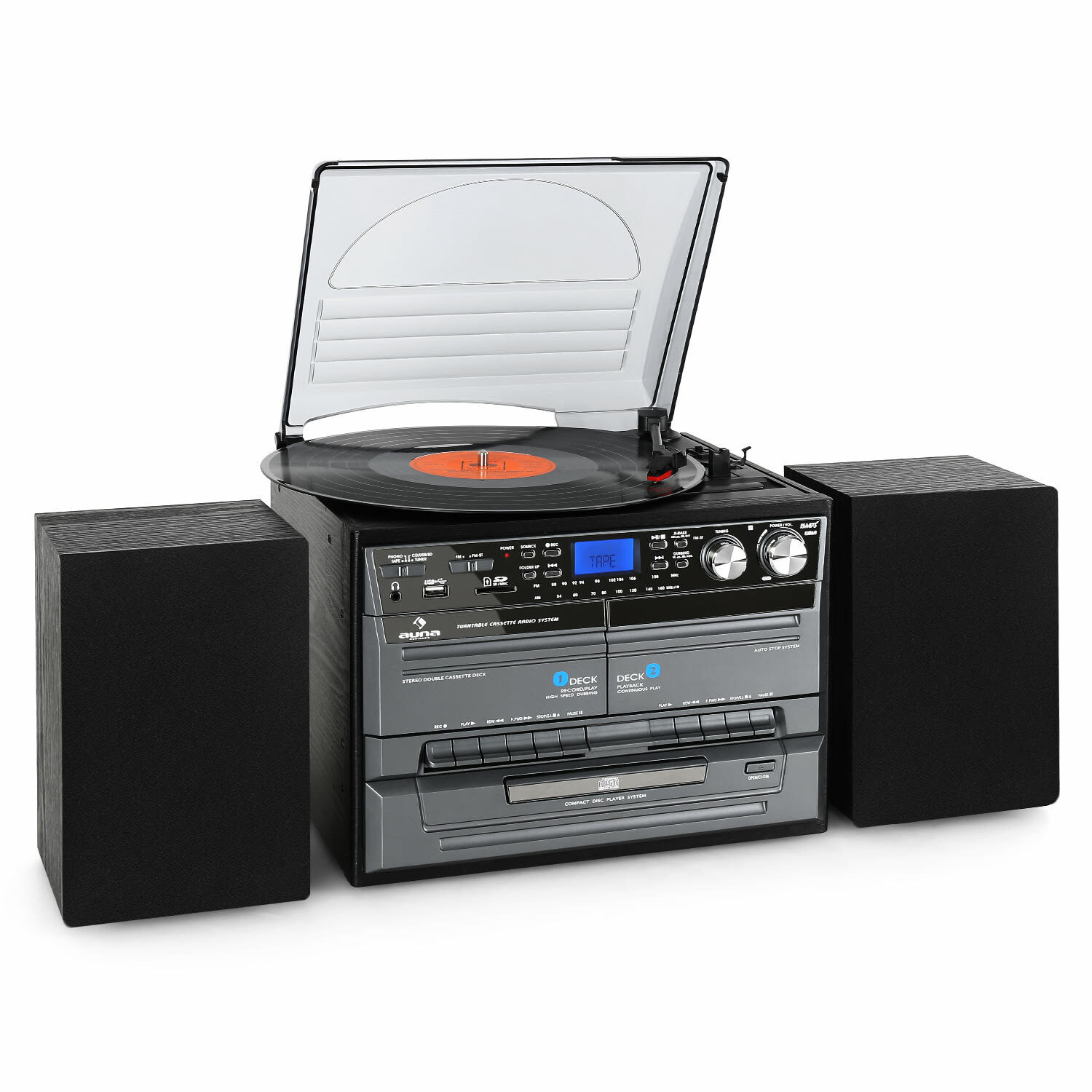 mini chaine hifi lecteur cd usb sd platine vinyl enceinte stereo k7 encodage mp3 eur 129 99. Black Bedroom Furniture Sets. Home Design Ideas