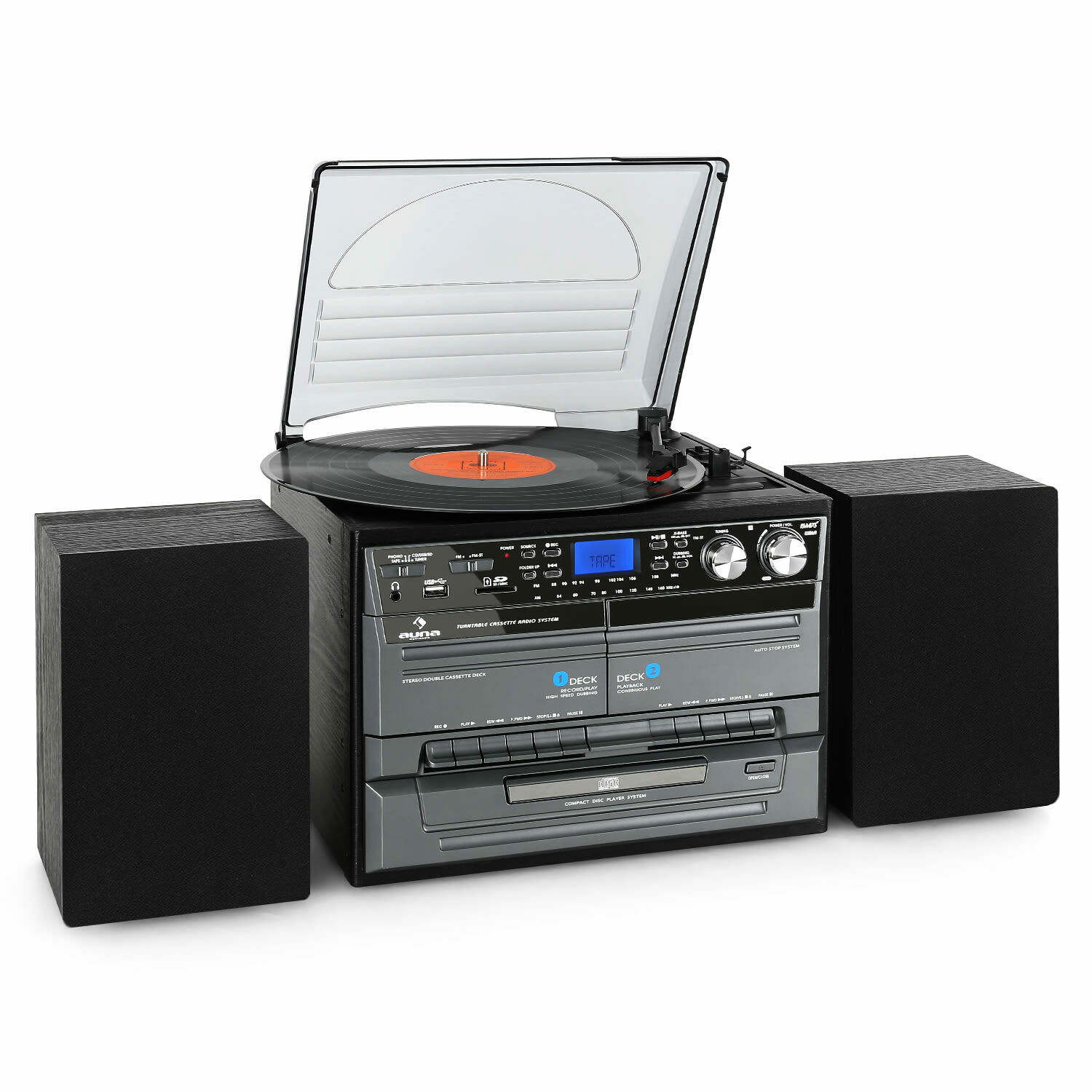 mini chaine stereo hifi cd usb platine stereo k7 encodage mp3 2 enceintes bois eur 109 99. Black Bedroom Furniture Sets. Home Design Ideas