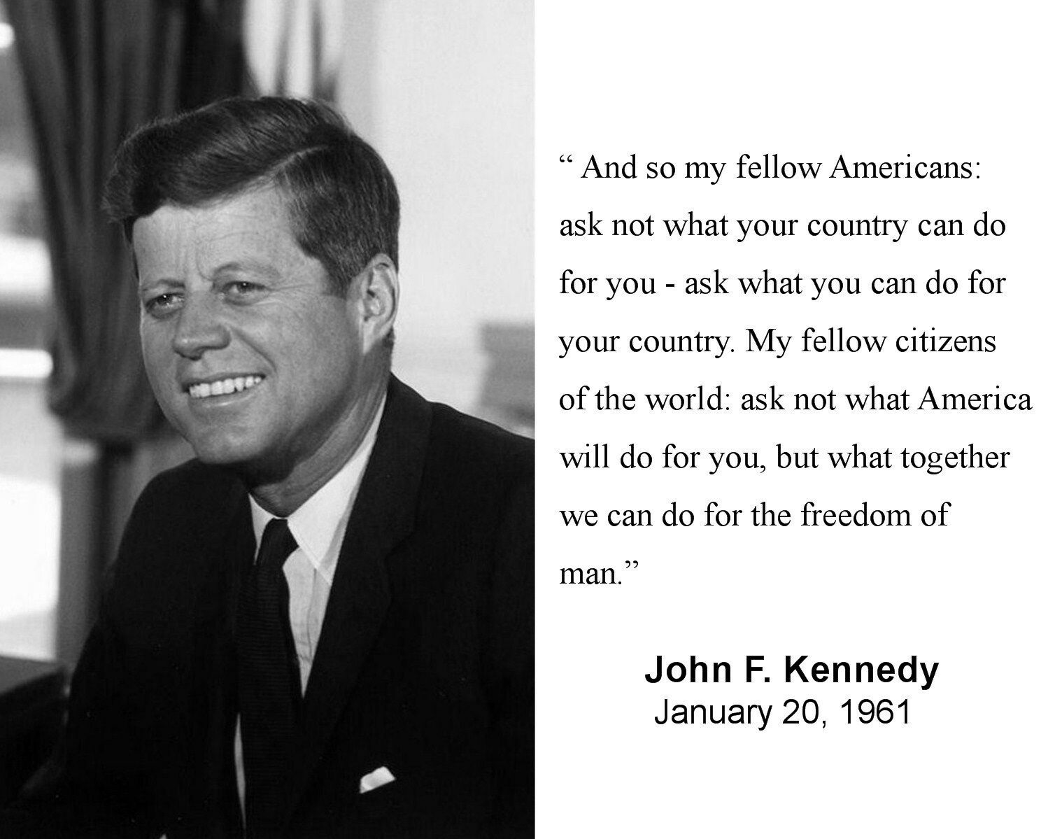 jfk inauguration speech Find great deals on ebay for jfk inauguration invitation shop with confidence.