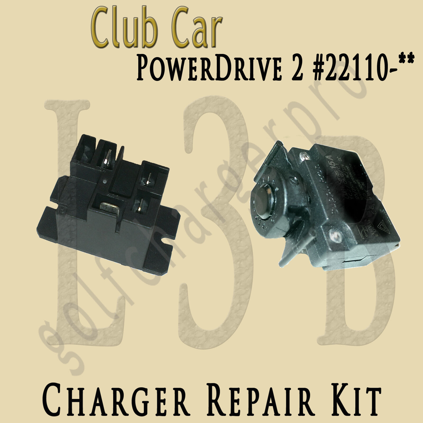 Club Car Charger Powerdrive 1 2 Kit Model 17930 22110 Relay Dpi 48v Wiring Diagram Of 1free Shipping