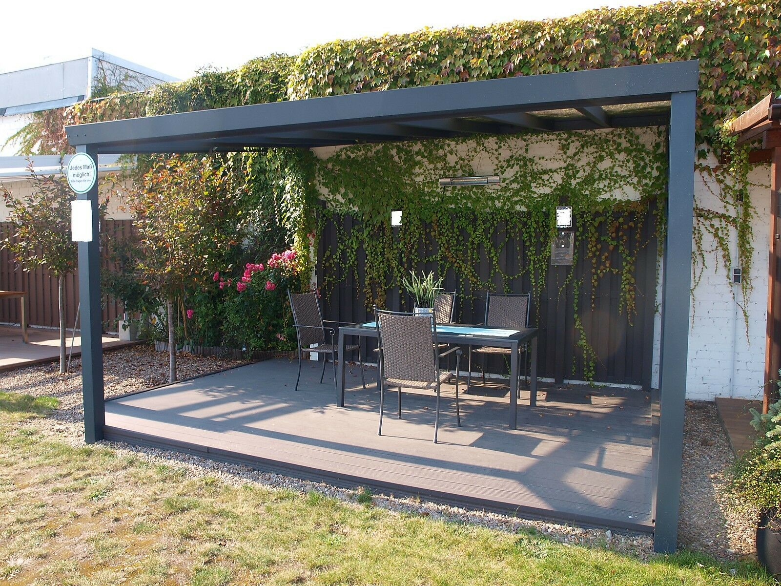 alu terrassendach mit vsg glas 6 00 x 3 00 m top qualit t terrassen berdachung. Black Bedroom Furniture Sets. Home Design Ideas