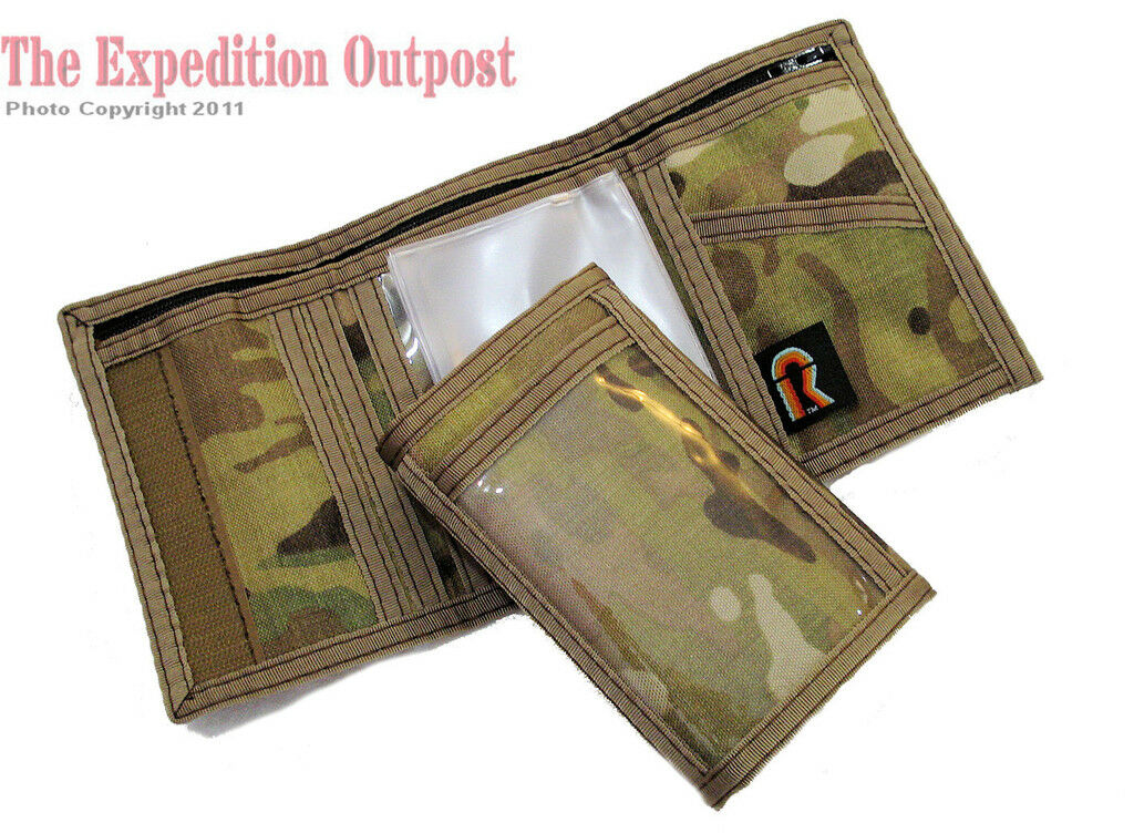 Men's Trifold Velcro Wallet US Army Multicam Camo Camouflage / Made in the USA