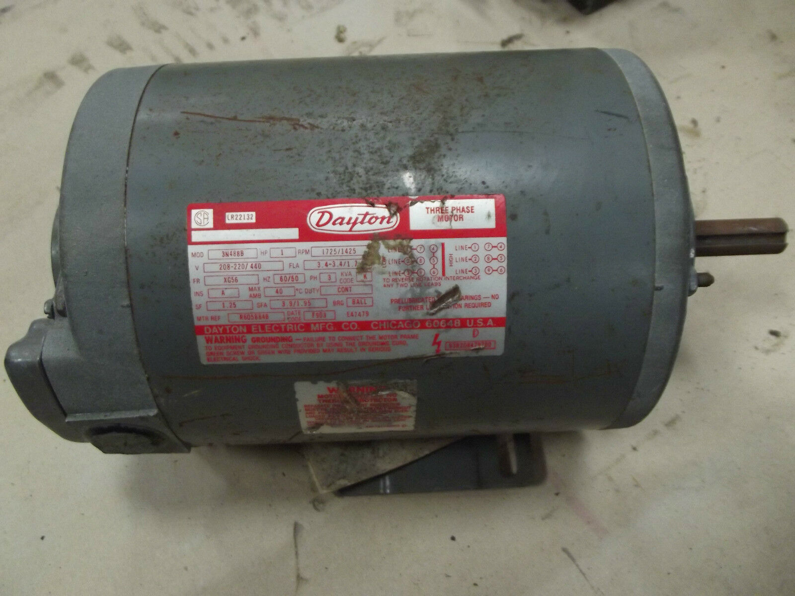 Dayton Fan Motor Lr22132 33312d1402938494doerrlr22132motorwiringmotorjpg 1 Hp Of 4only Available