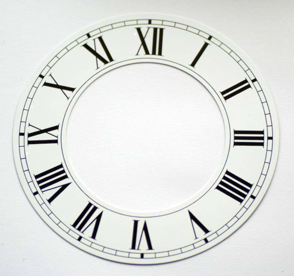 White clock CHAPTER RING roman numerals clocks dial new 76mm 45mm aluminium