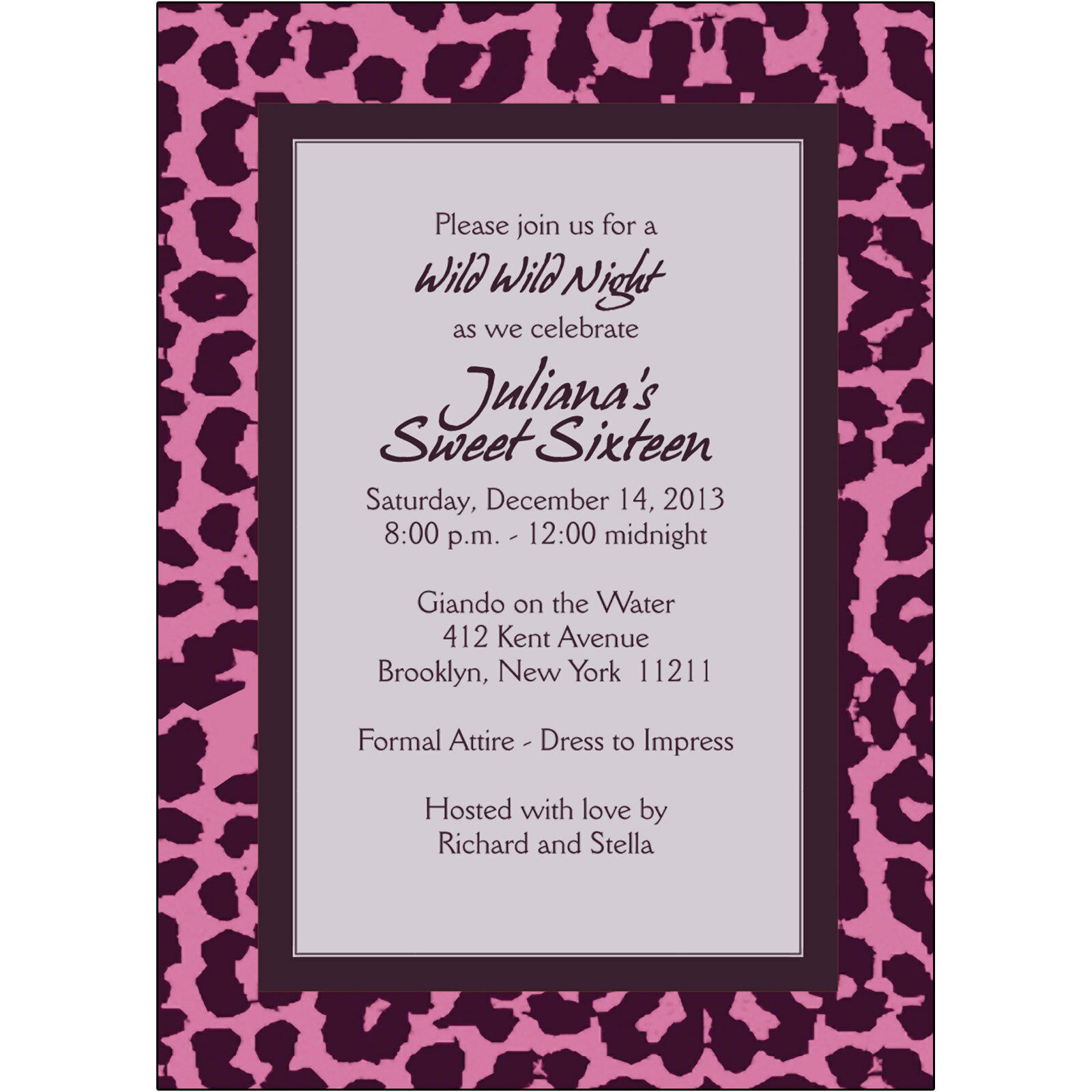 25 PERSONALIZED BIRTHDAY Party Invitations - BP-034 Leopard Spots ...