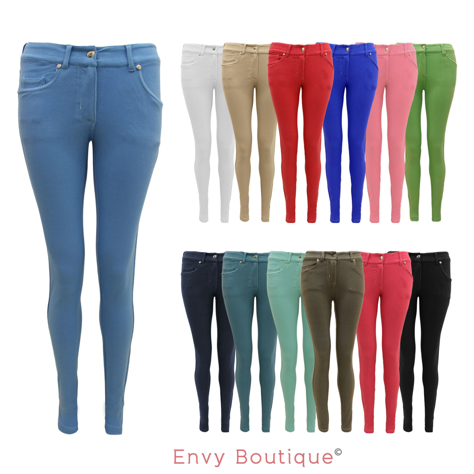 Coloured Womens Jeans - Jeans Am