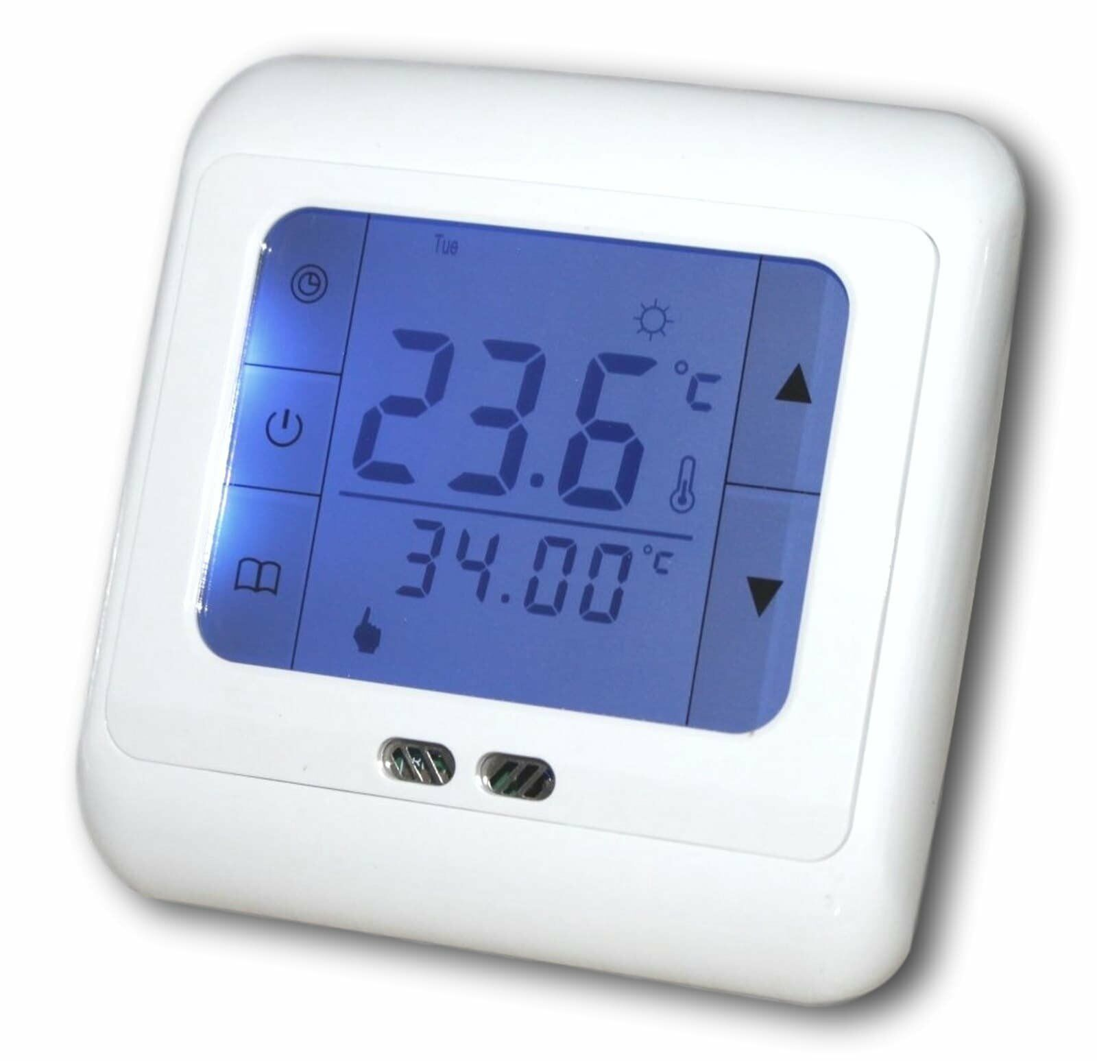digital thermostat touchscreen raumthermostat. Black Bedroom Furniture Sets. Home Design Ideas