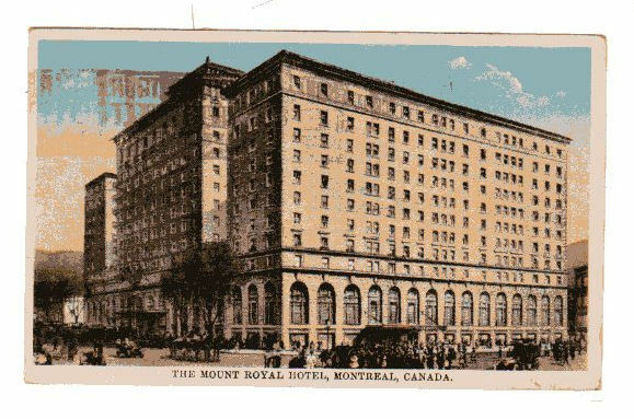 Vintage 1929 Postcard The Mount Royal Hotel Montreal Canada 1 Of 2only Available See More