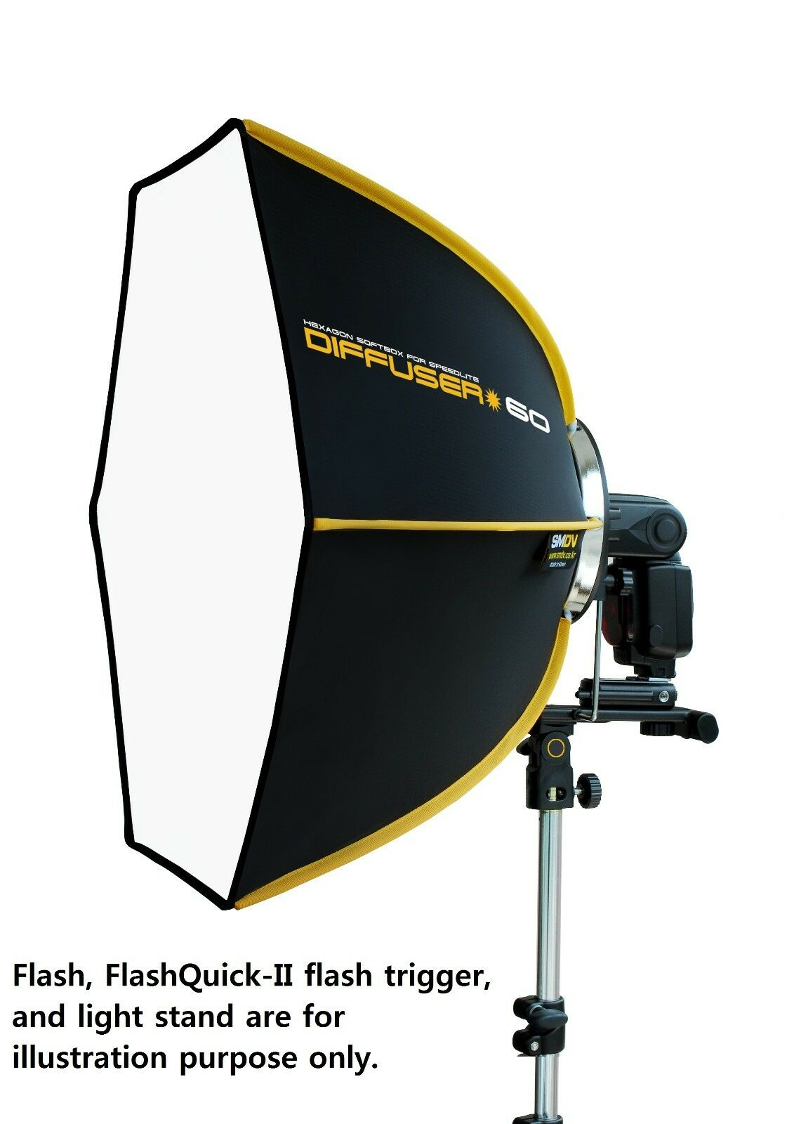 how to use speedlight with softbox