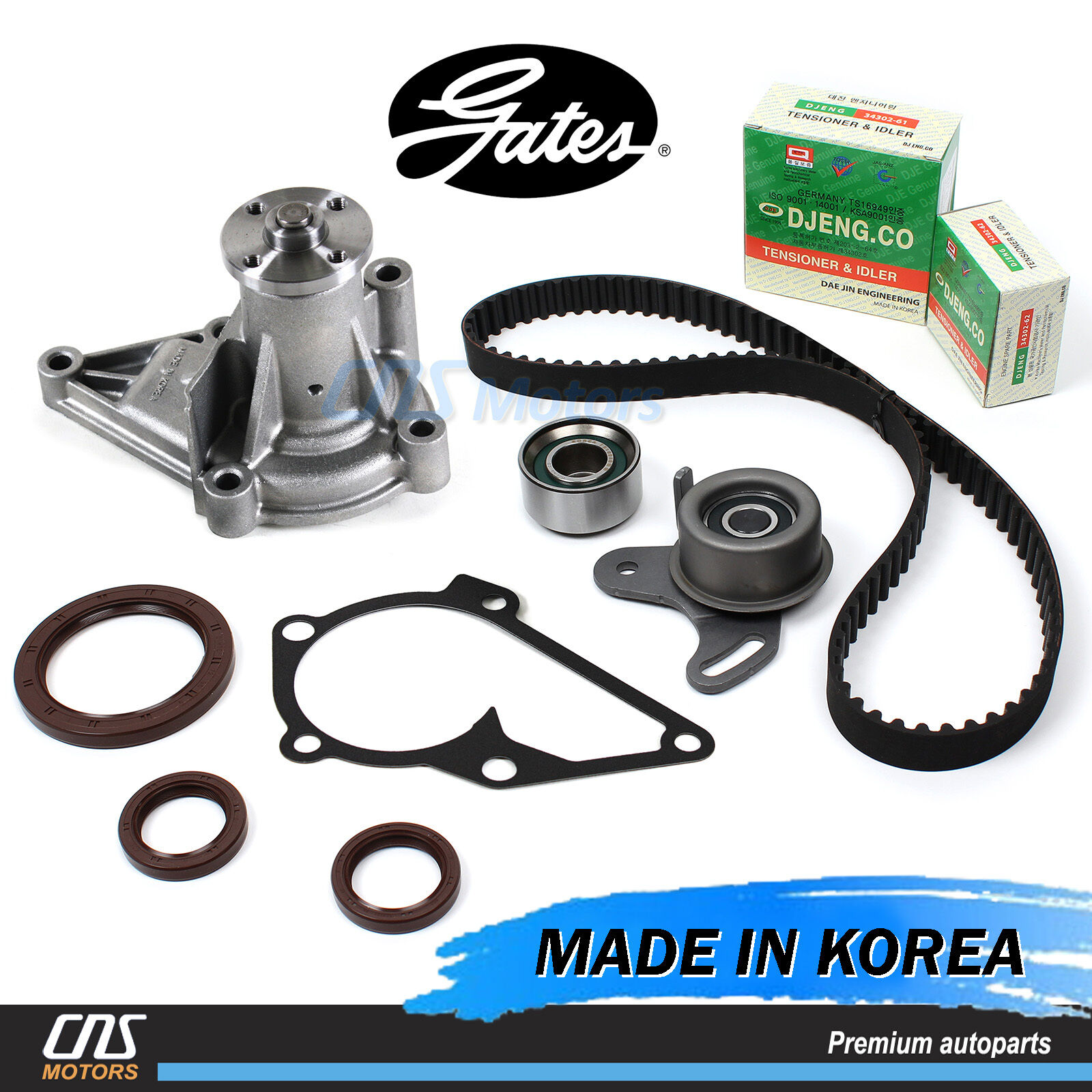 Gates Htd Timing Belt Water Pump Kit For 96 11 Hyundai Accent Kia 1999 Sportage 1 Of 5only 0 Available