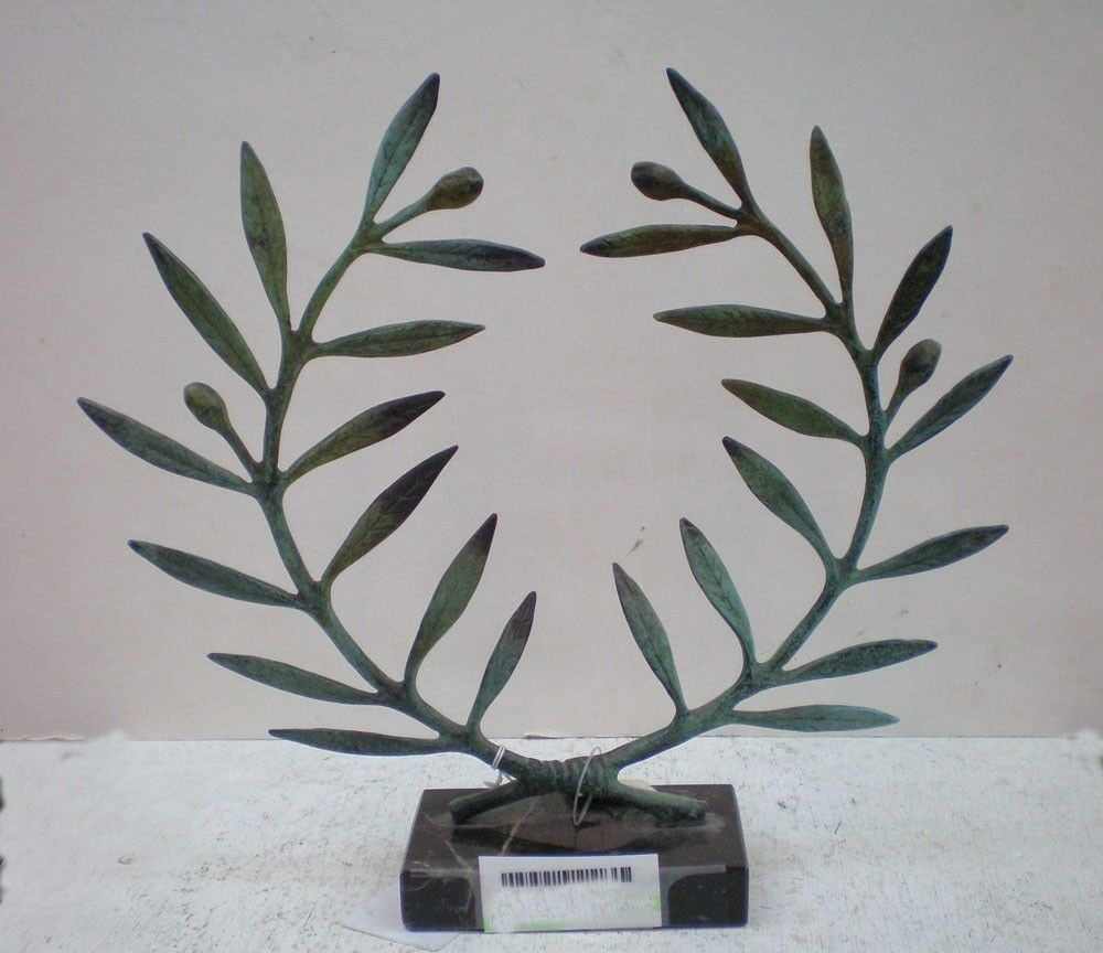 Olive Wreath Bronze Item - Kotinos Olympic Games Winner Prize - Antique Style