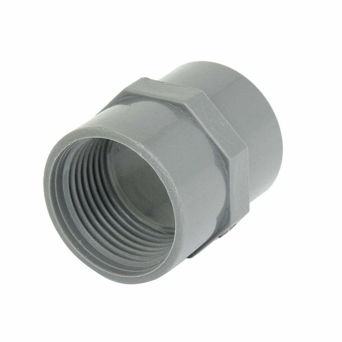 32mm 1 pt female thread pvc straight pipe tube adapter connector gray picclick. Black Bedroom Furniture Sets. Home Design Ideas