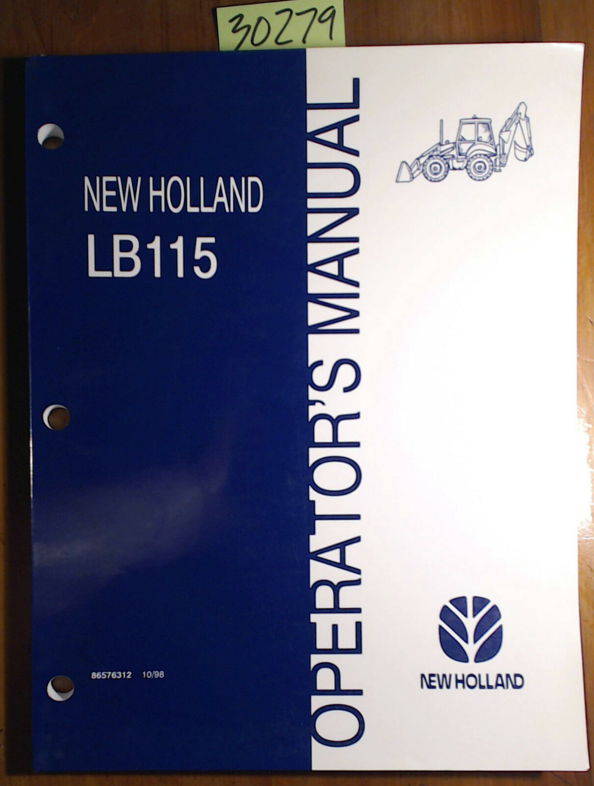 1 of 12Only 1 available New Holland LB115 Backhoe Loader Owner's Operator's  Manual 86576312 ...