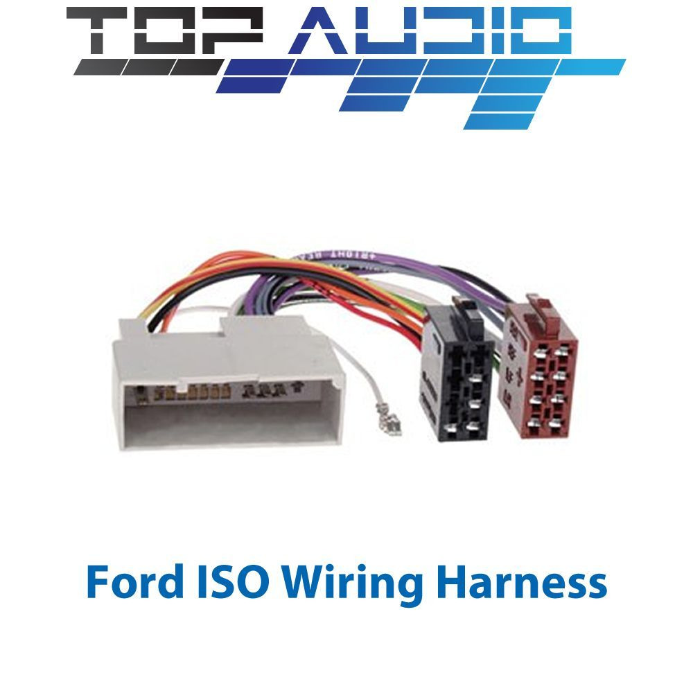FORD ISO WIRING HARNESS stereo radio plug lead wire loom connector adaptor  1 of 2 See More