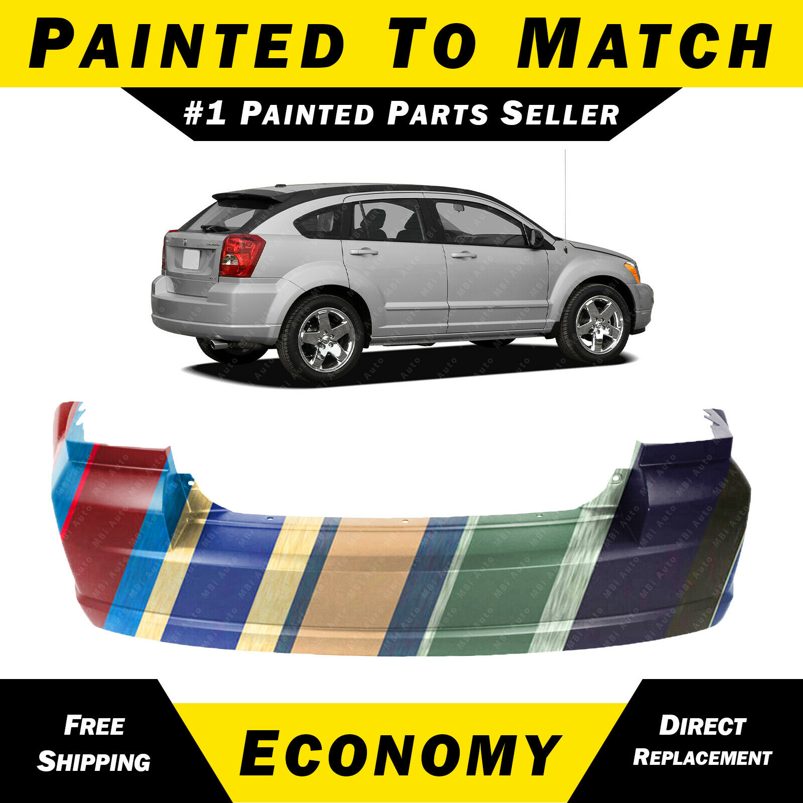 NEW Painted To Match - Rear Bumper Cover for 2007-2012 Dodge Caliber  YC95TZZAA 1 of 5FREE Shipping See More