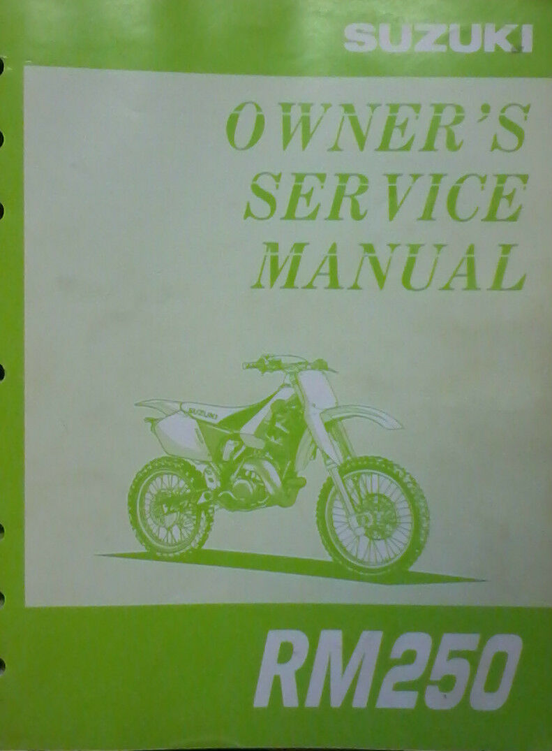 1997 Suzuki RM250 Owner's Service Manual 99011-37E51-03A 1 of 1Only 1  available ...