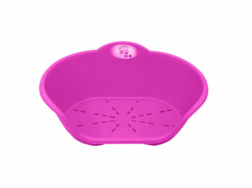Heavy Duty Plastic Pink Pet Bed Dog Cat Beds Basket For Cats & Dogs