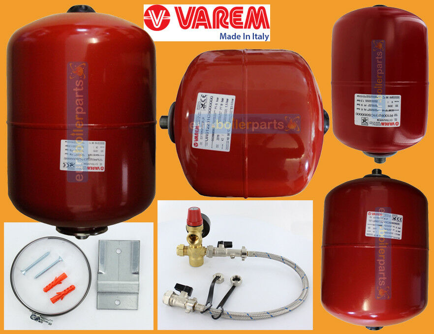 VAREM ITALY CENTRAL Heating Expansion Vessel Red 8 12 18 24 35 50 ...