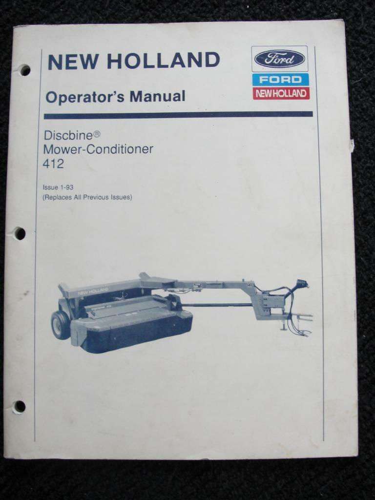 New Holland 412 Haybine Mower Conditioner Operators Manual Clean 1 of 1Only  2 available See More
