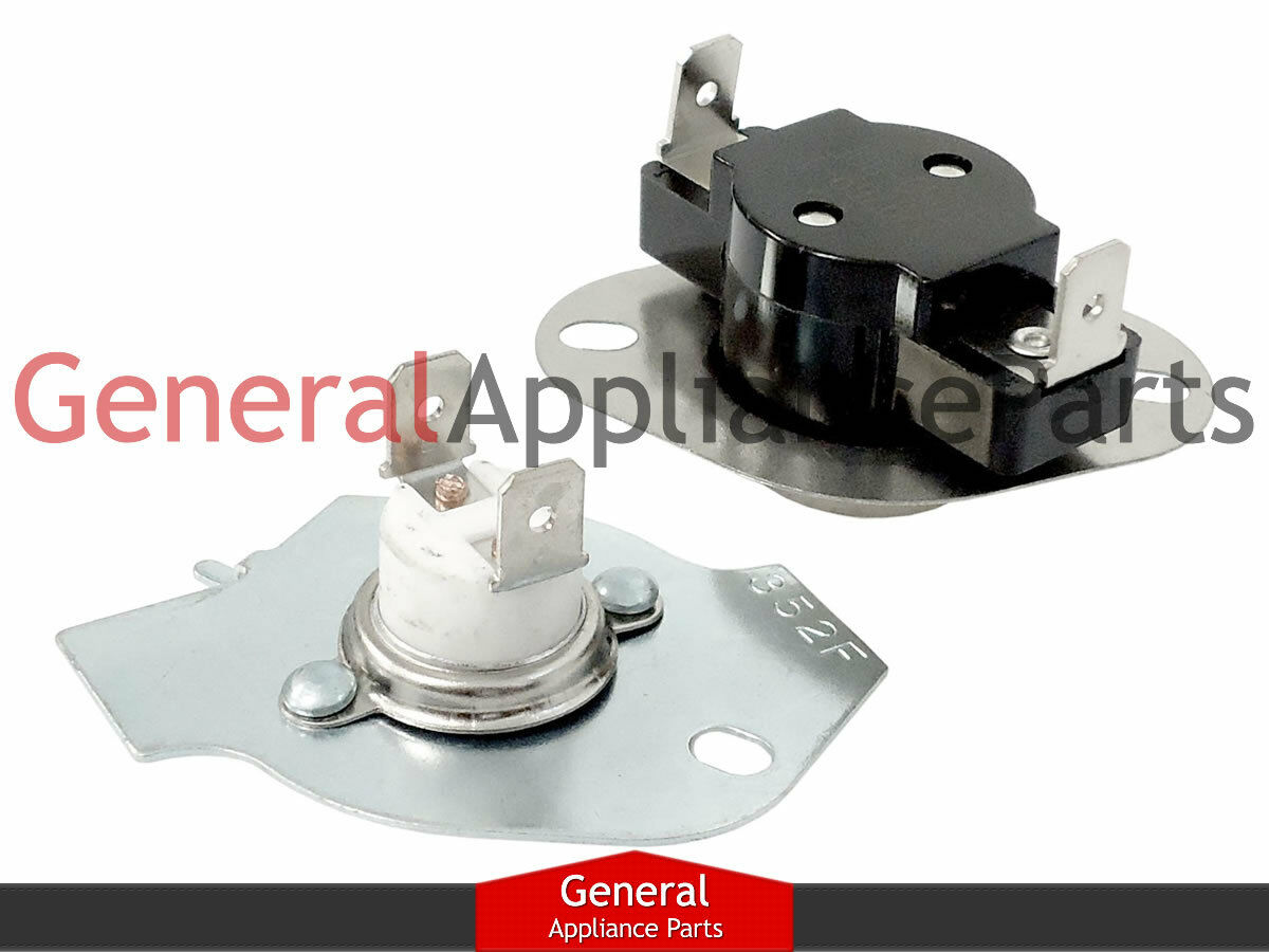 Whirlpool Kenmore Dryer Thermostat Thermal Fuse Kit 80001 695563 Wiring Diagram For Heating Element 3387747 1 Of See More
